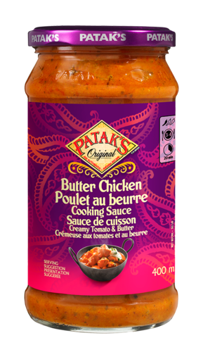 Butter chicken cooking sauce 400ml 280518 ol