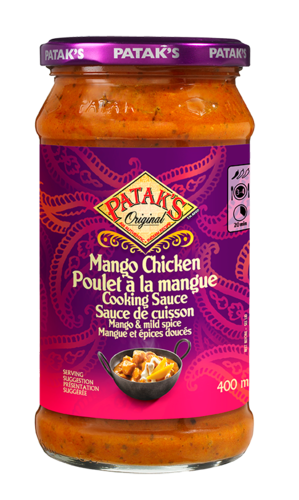 Mango chicken cooking sauce 400ml 280520 ol