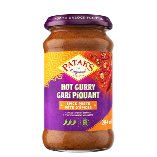 Paste hot curry spice