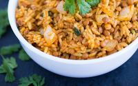 Curried lentil rice min