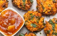 Carrot onion spinach bhajia fritters min