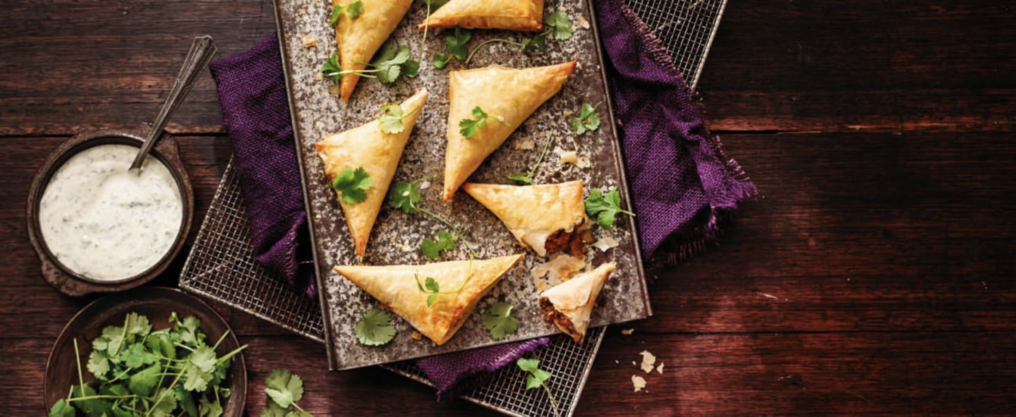 Samosas with Phyllo Pastry Shell Recipe