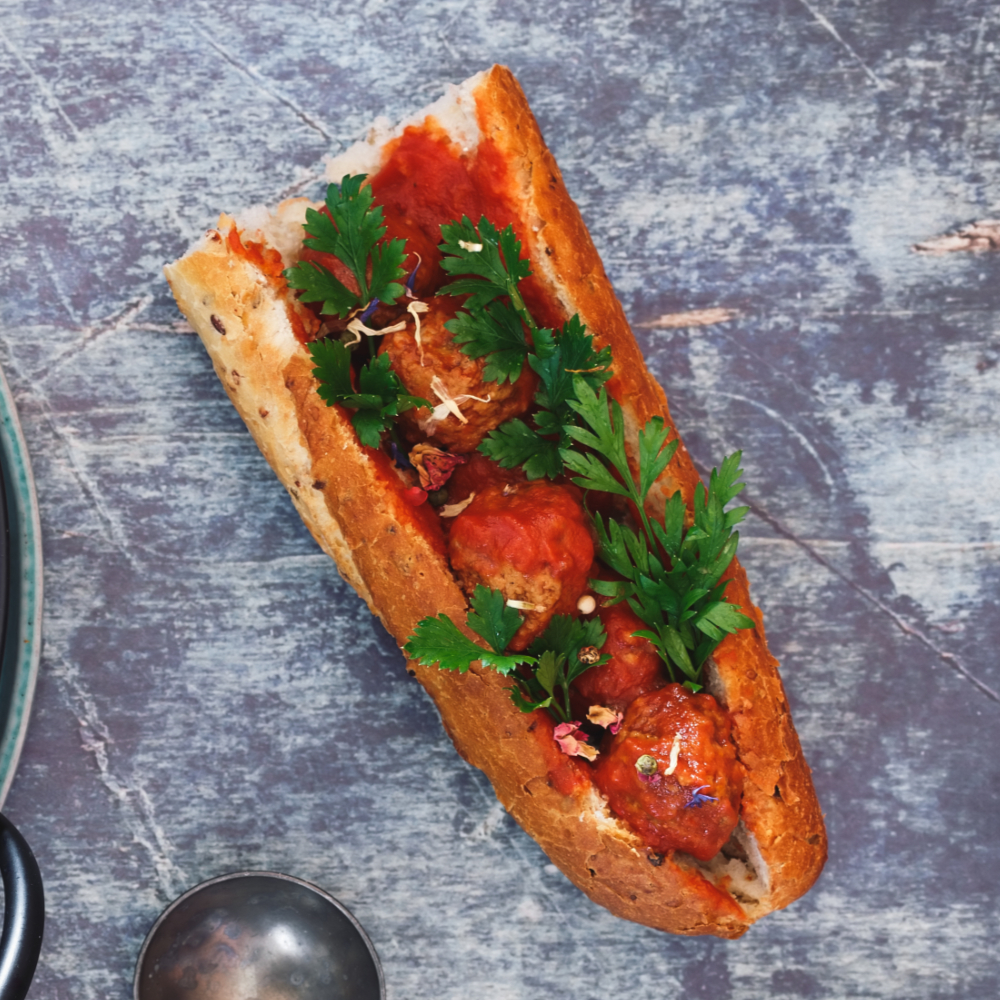 Butter Chicken Meatball Sub Recipe