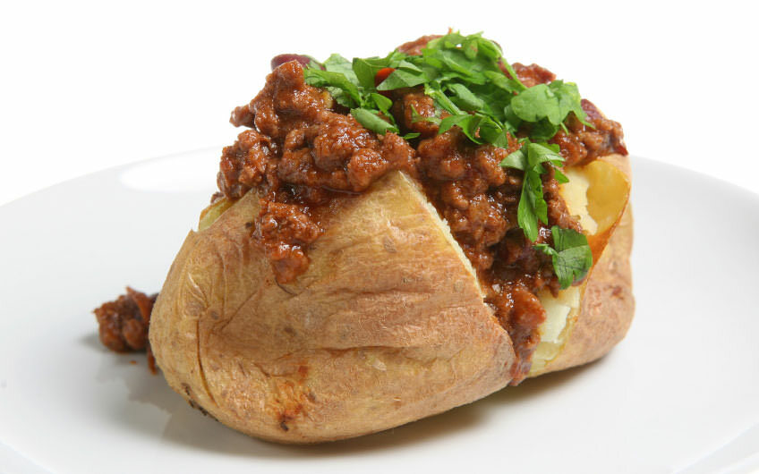 Masala Ground Beef Jacket Potato Recipe