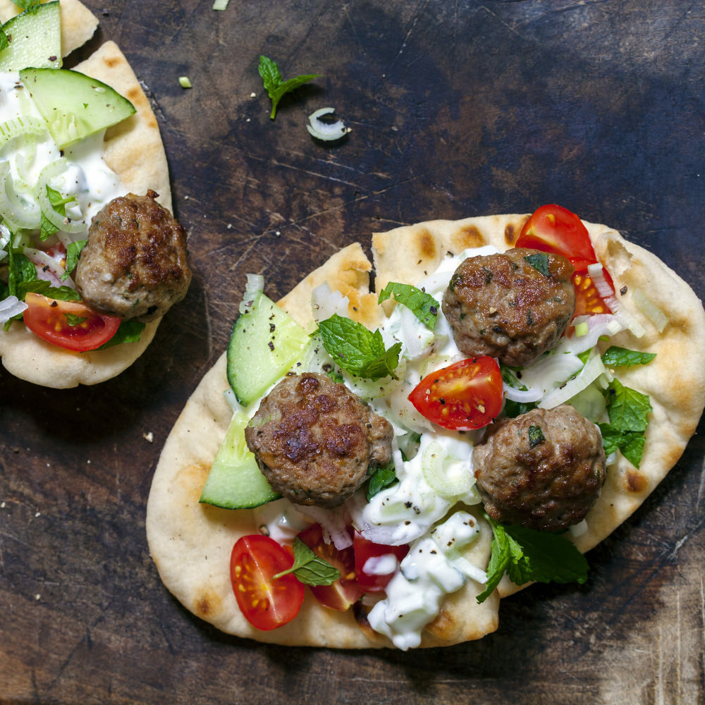 Tandoori Lamb Meatballs and Lemon Feta Sauce Recipe